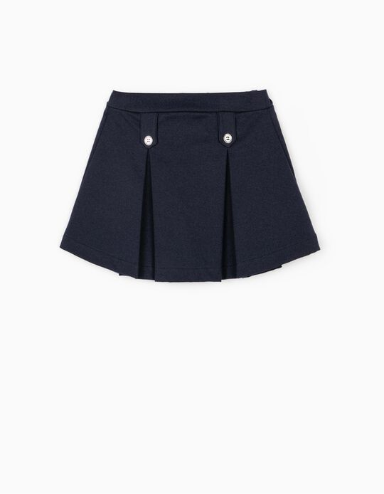 Pleated Skirt for Girls, Dark Blue