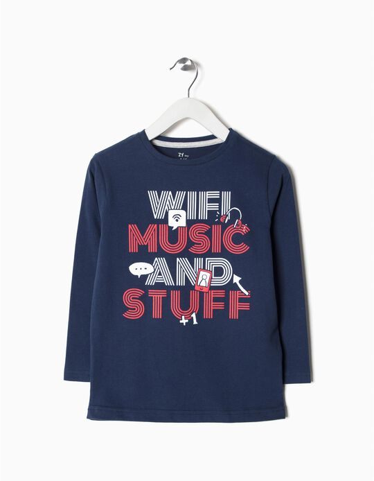 T-shirt Manga Comprida Wifi