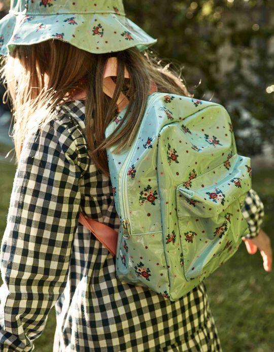 Backpack for Girls 'Flowers', Blue
