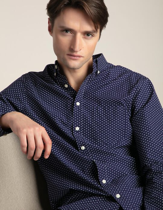 Slim fit shirt with pattern