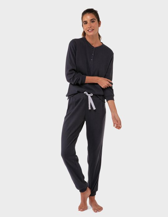 Jersey Knit Pyjamas, with Stripe