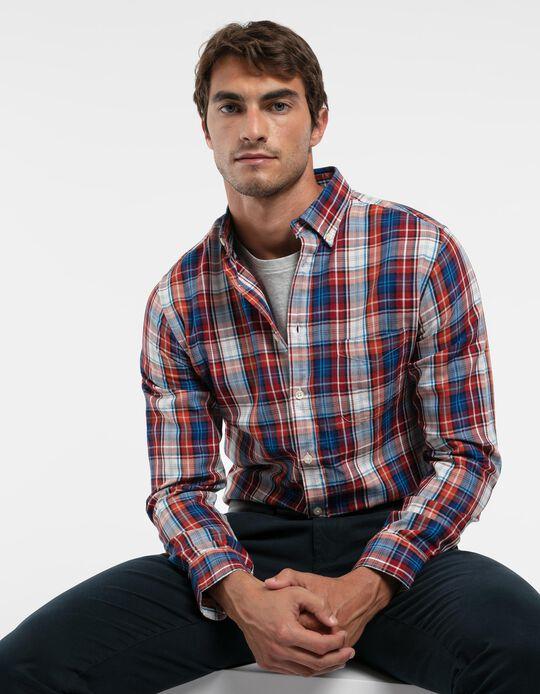 Regular Fit Chequered Shirt