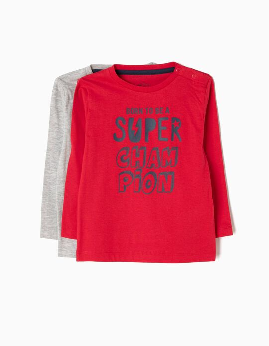 Pack of 2 T-Shirts, Born To Be a Super Champion