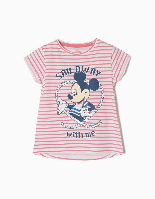 T-shirt Riscas Mickey