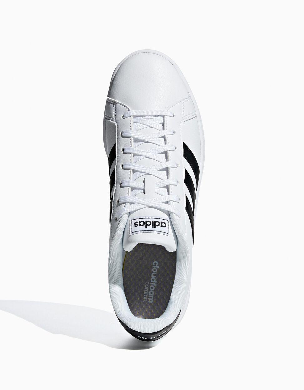 Sapatilha Adidas Gr Court com listas em contraste