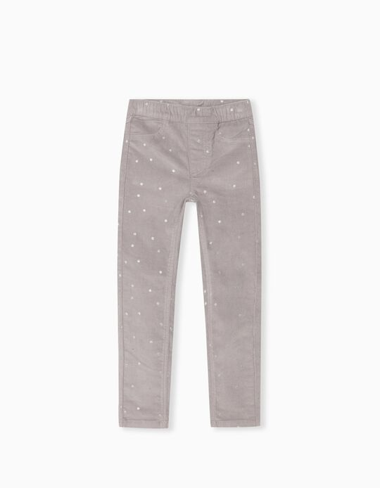 Dotted Trousers, Girls, Light Grey