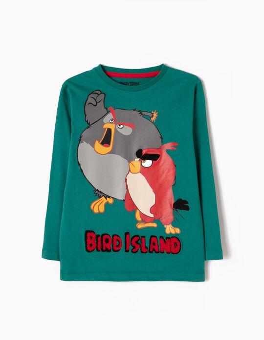 T-shirt Manga Comprida Angry Birds Verde