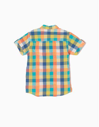 Camisa Oxford Quadrados