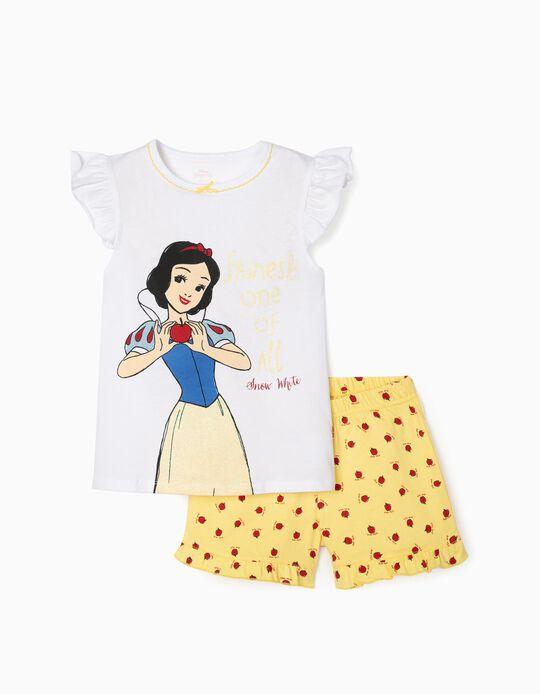 Pijama para Menina 'Snow White', Branco/Amarelo