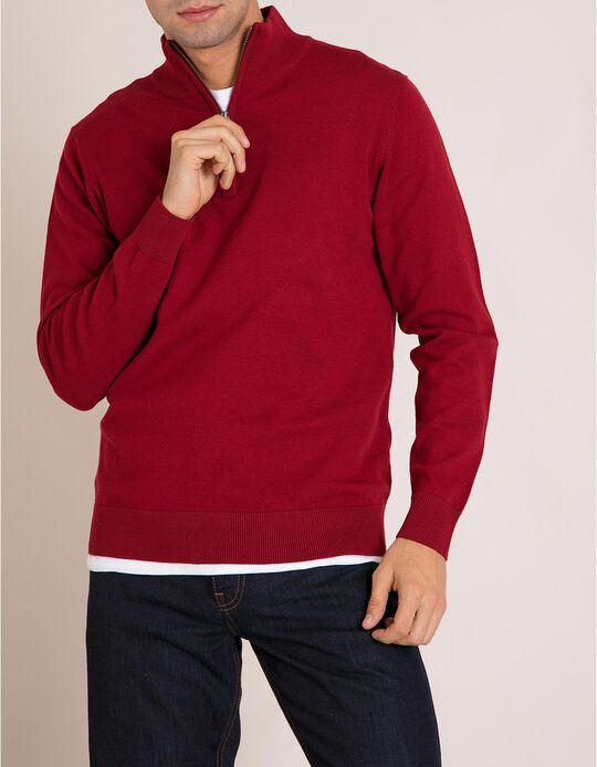 Camisola Gola Alta Vermelha