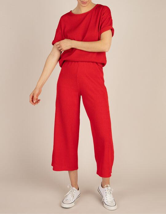 Calças Jersey Vermelhas