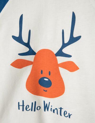 T-shirt manga comprida Hello Winter