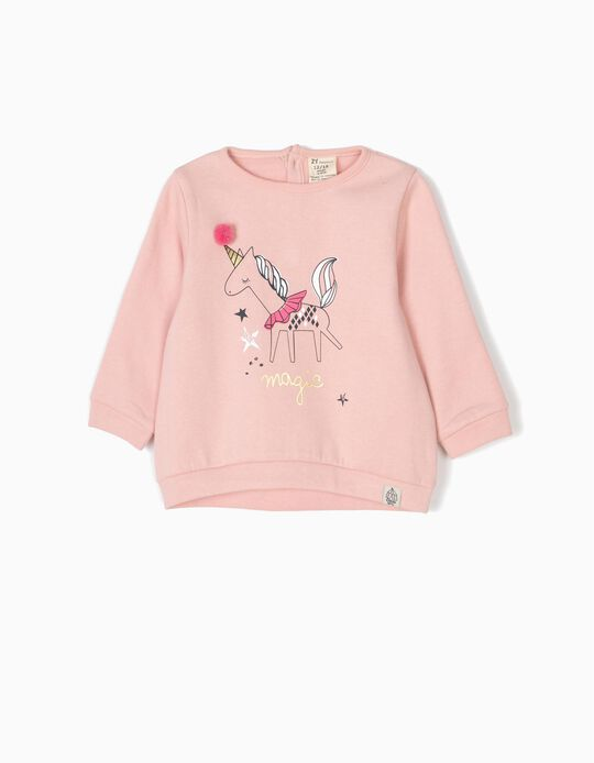 Sweatshirt Magic com Pompom Rosa