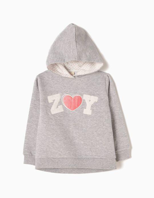Sweatshirt com Capuz ZY Cinzenta