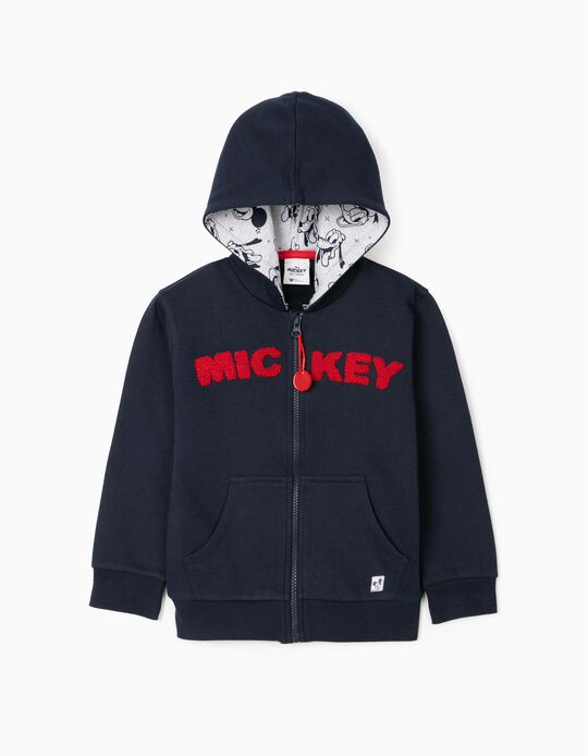 Hooded Jacket for Boys 'Mickey', Blue
