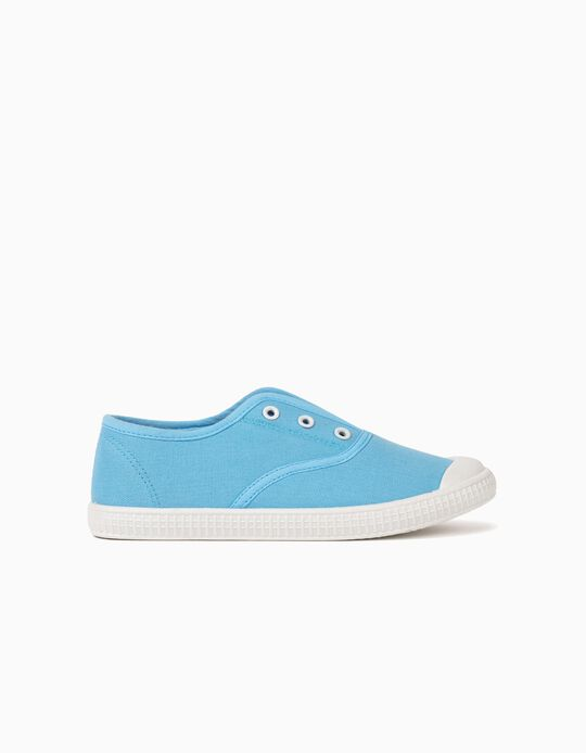 Canvas Trainers with Elastic, Boys