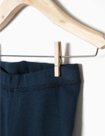 Leggings algodão canelado
