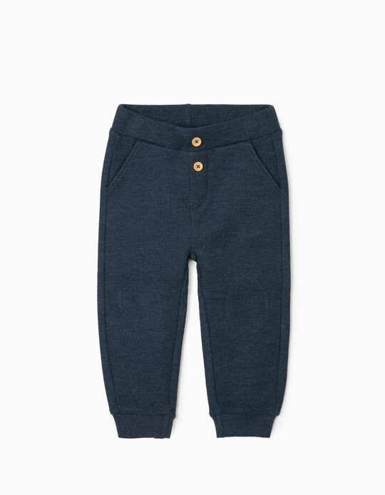 Waffle Joggers for Baby Boys, Blue