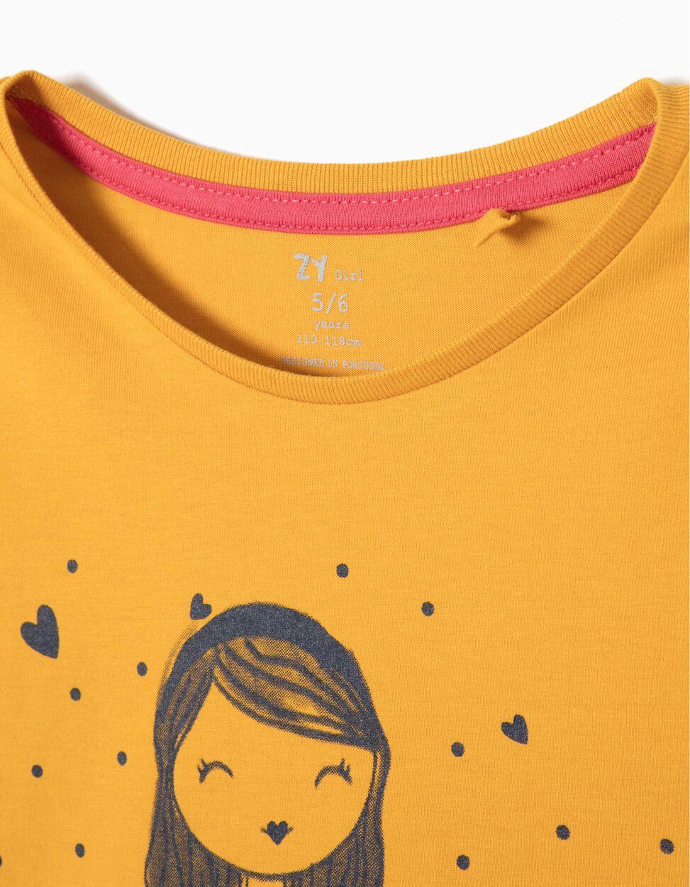 T-shirt Cactus Lover Amarela