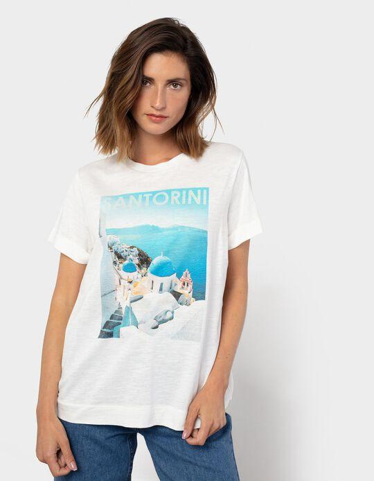 Santorini T-Shirt for Women, White