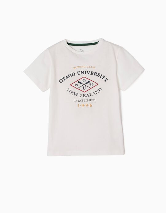 T-Shirt, Otago University, White