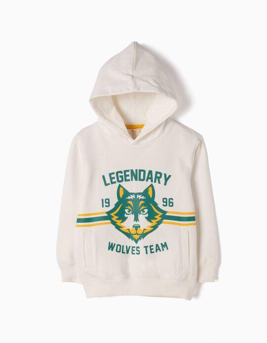 Sweatshirt Wolves Team Branca