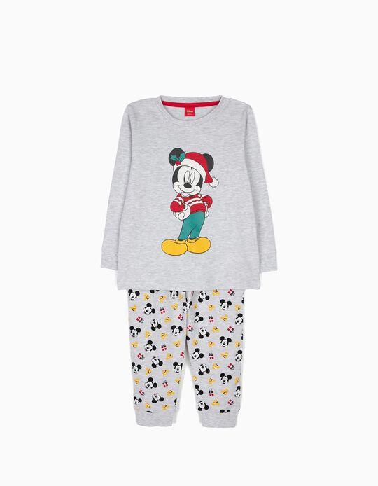 Pijama Manga Comprida e Calças Mickey Christmas
