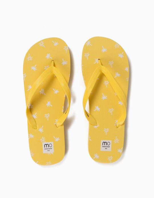 PRINTED FLIP FLOP SU, LIGHT YELLOW, 41