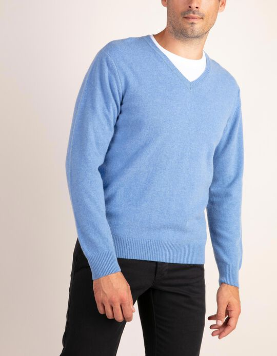 SWEATER V NECK BABYW, LIGHT BLUE13, XXL