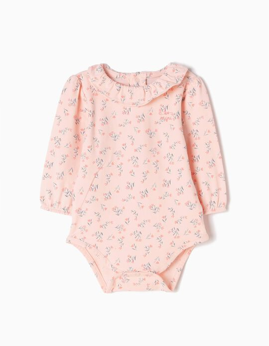 Long-Sleeved Bodysuit, Little Flowers