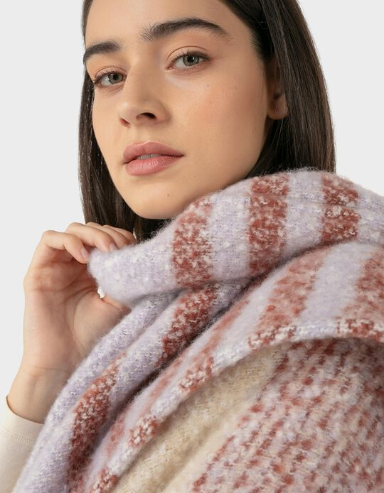Knitted Poncho, Stripes