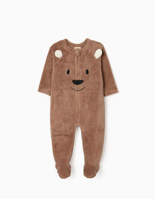 Onesie for Baby Boys 'Teddy Bear', Brown