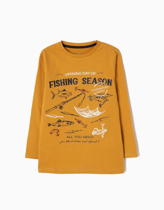T-shirt Manga Comprida Fishing Season