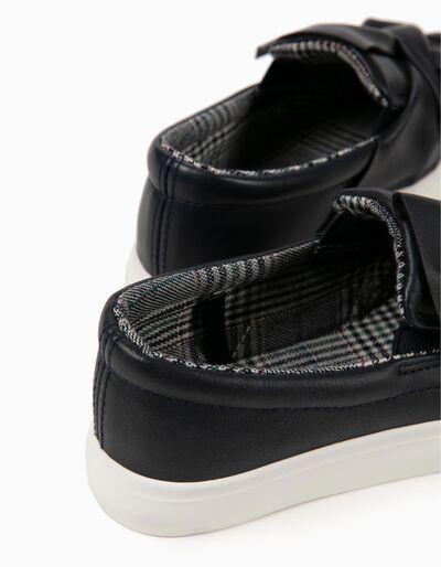Sapatilhas Slip-on com Laço Azuis