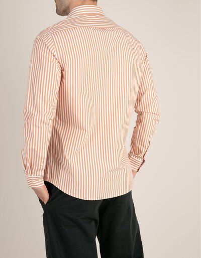 Camisa Slim Fit às riscas