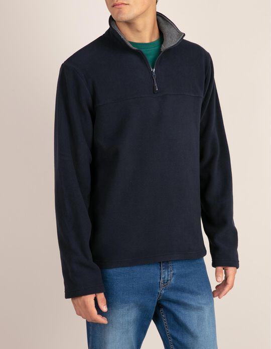 Sweatshirt lisa da linha Essencial em malha polar