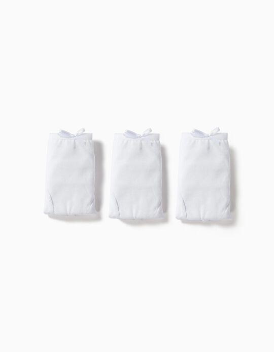 Pack 3 Boxers Brancos com Lacinho