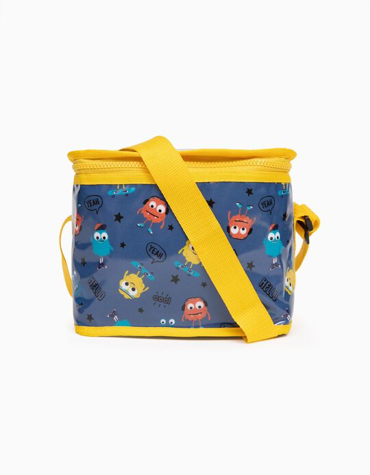 Thermal Lunch Bag for Boys 'Monsters', Blue