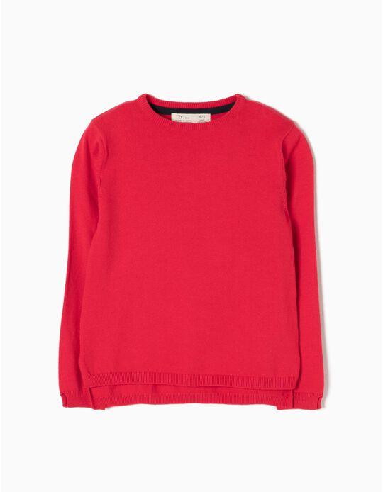 Camisola de Malha Vermelha