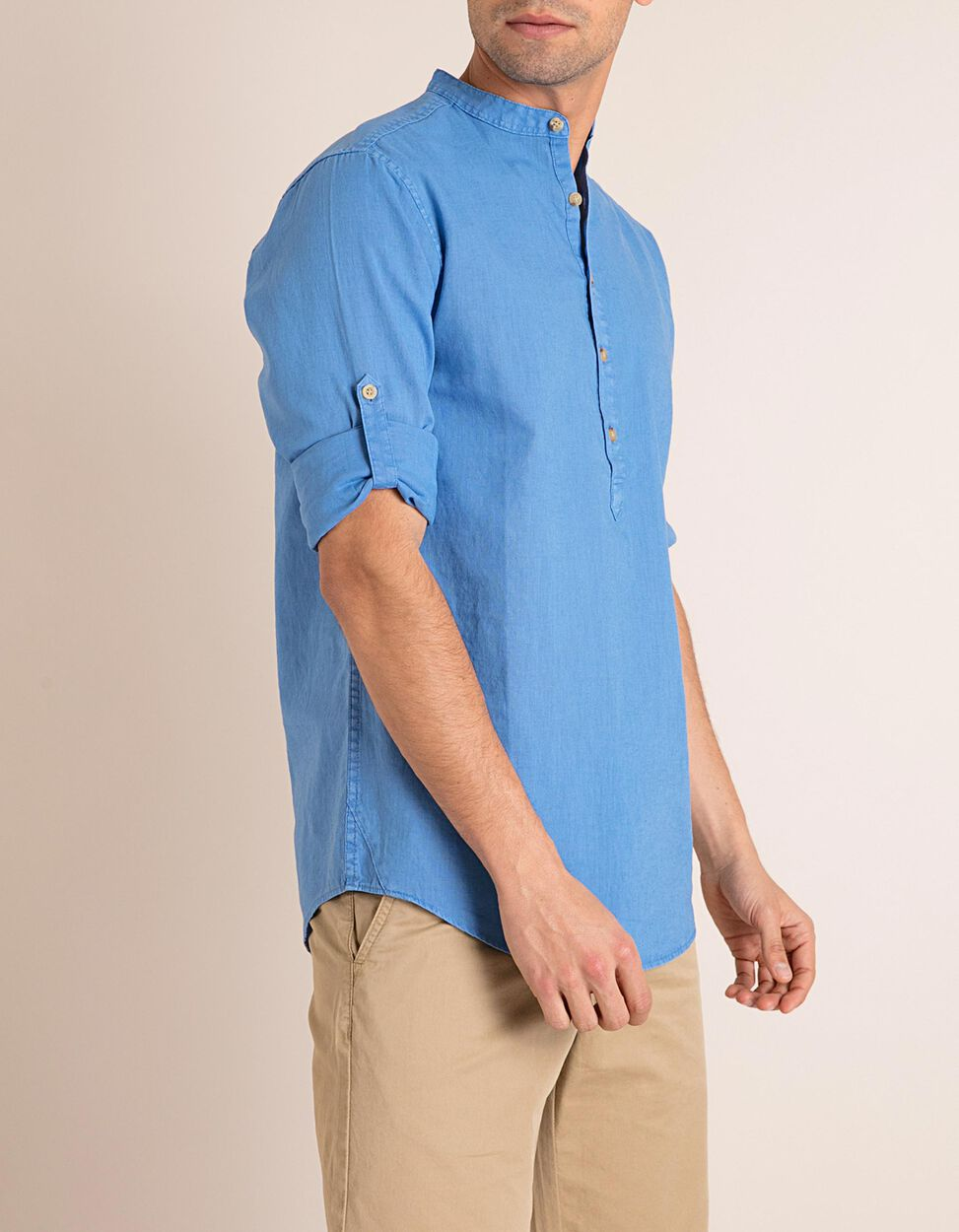 Camisa Gola Mandarim