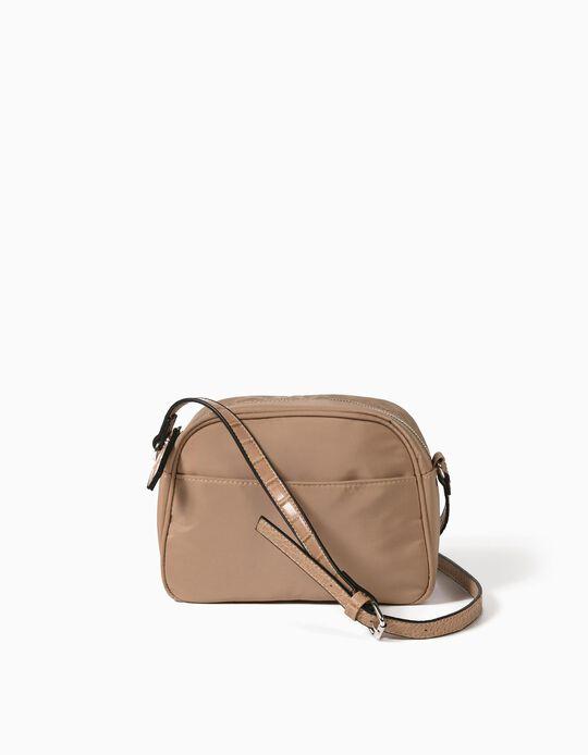 Nylon Effect Crossbody Bag