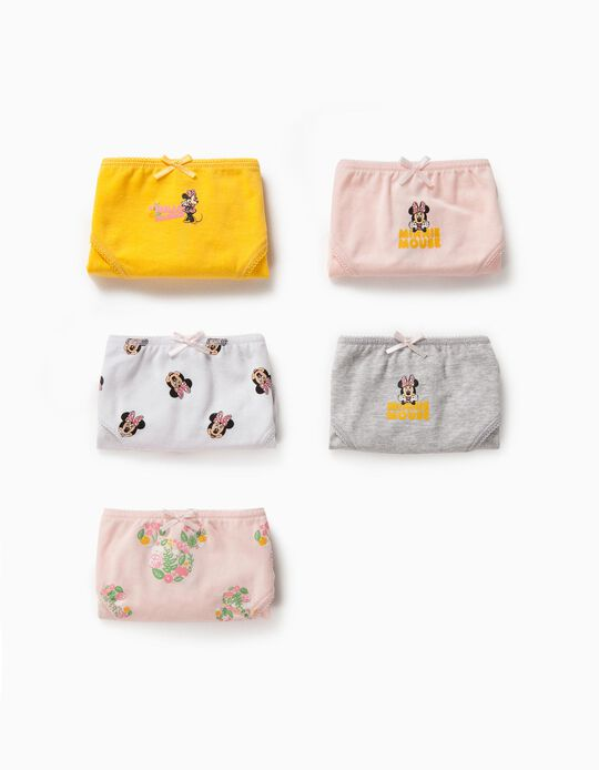 5 Cuecas para Menina 'Minnie Mouse', Multicolor
