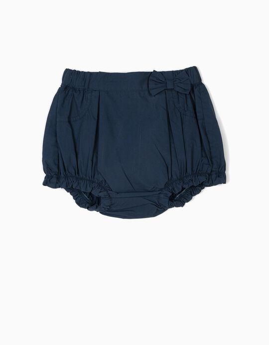 Shorts with Bow for Baby Girls, Dark Blue