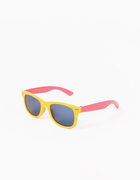 Óculos de Sol Amarelo e Rosa