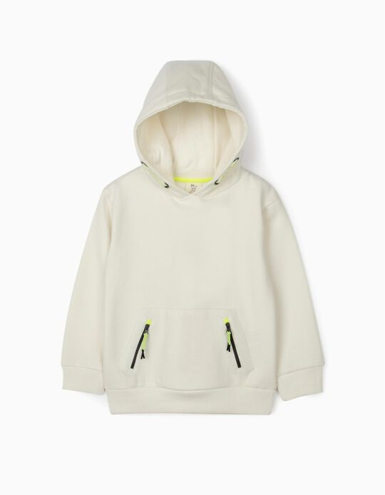 Hooded Sweatshirt for Boys, White