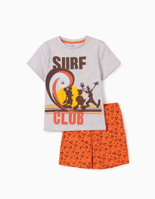 Pijama para Menino 'Mickey Surf Club', Cinza/Laranja