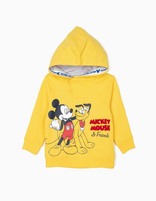Sweatshirt com Capuz para Bebé Menino 'Mickey & Pluto', Amarelo