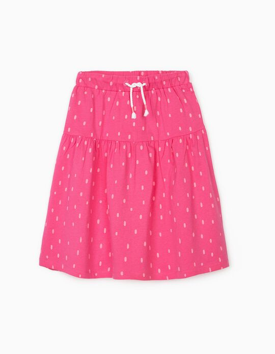 Midi Skirt for Girls 'Dots', Pink