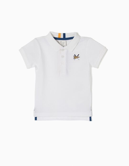 Short-Sleeved Polo-Shirt, Super White