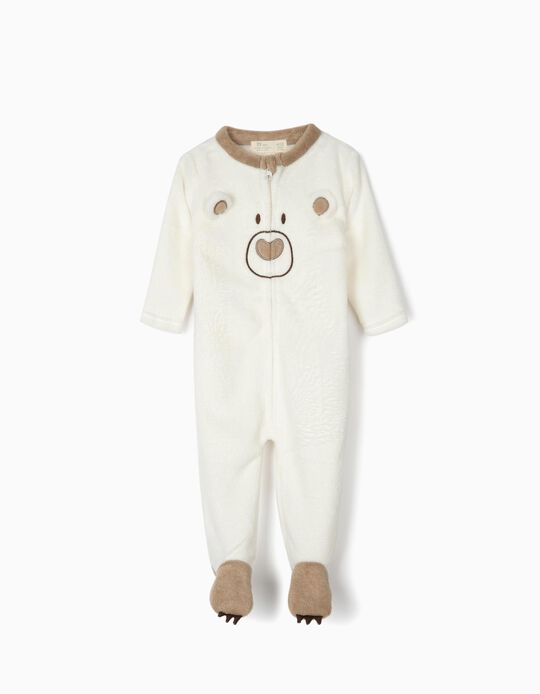 Onesie for Baby 'Cute Bear', White